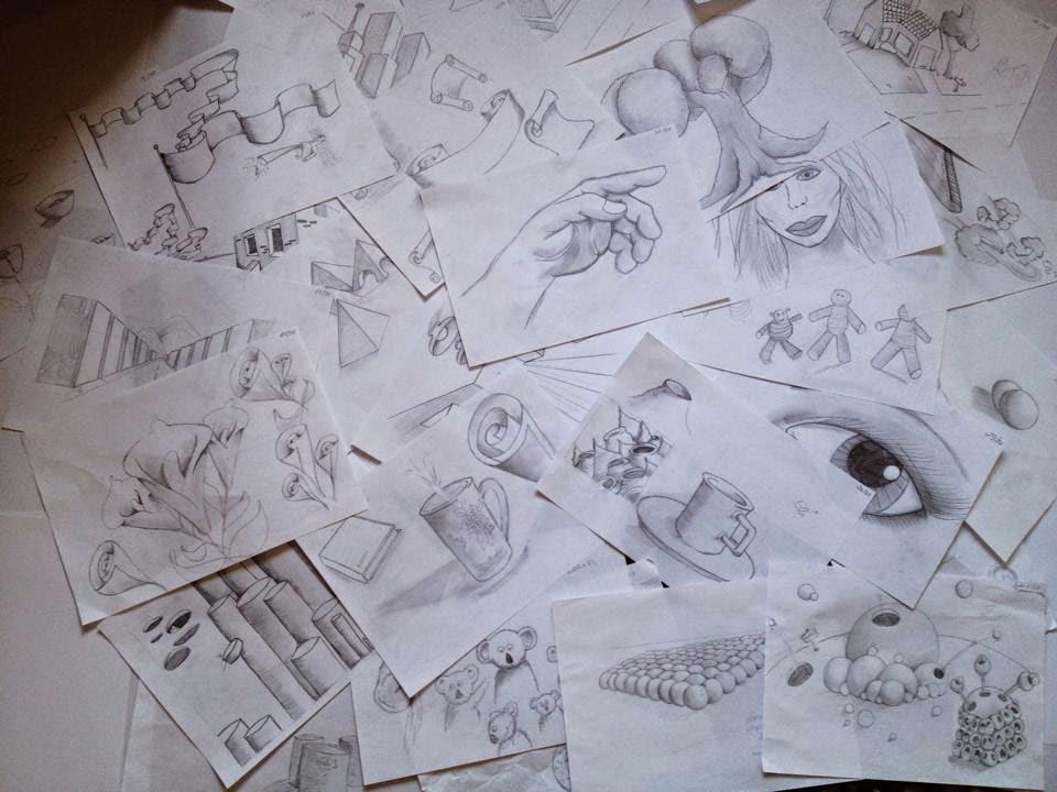 Все рисунки, которые вы сможете нарисовать за месяц с помощью книги. Автор — Kristin Kristiny. Источник