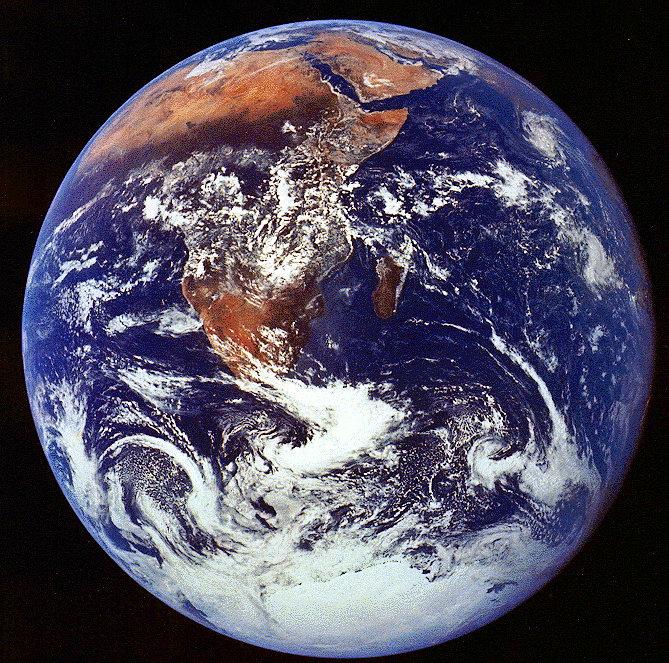 Аполлон-17 - фото Земли