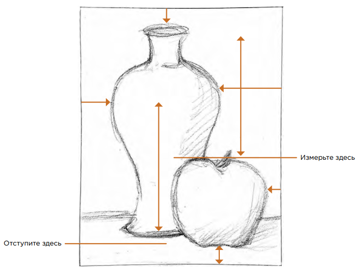 манипуляции как измерить карандашом сложную картинку тем