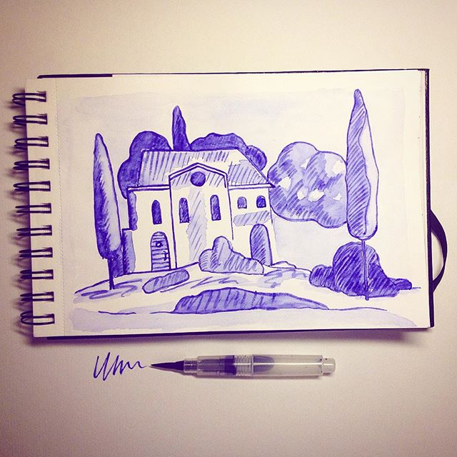 акварельная ручка