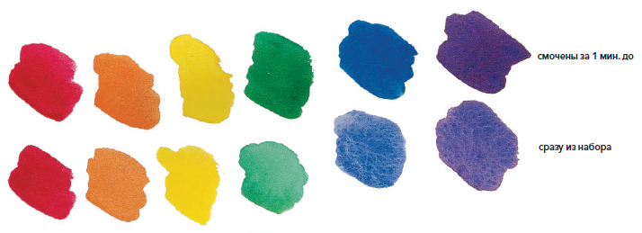 смочить краски
