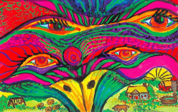 Маленькие миры. Иллюстрация из книги «Рисуйте свободно!»