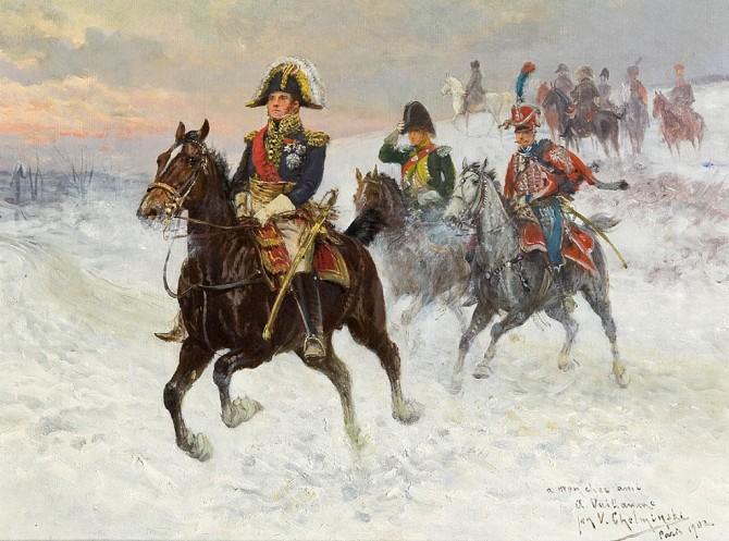Marszałek_Ney_i_Napoleon_z_wojskami_podczas_kampanii_rosyjskiej_-_Jan_Chełmiński