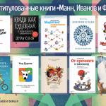 Самые титулованные книги издательства МИФ