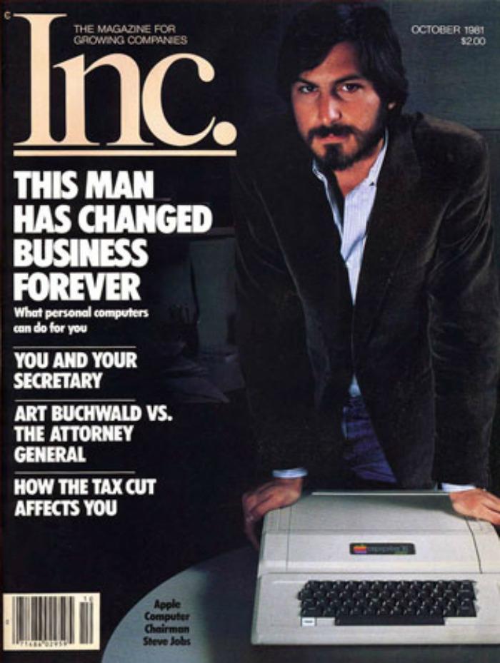 Первая обложка журнала со Стивом Джобсом. Октябрь 1981-го, — источник