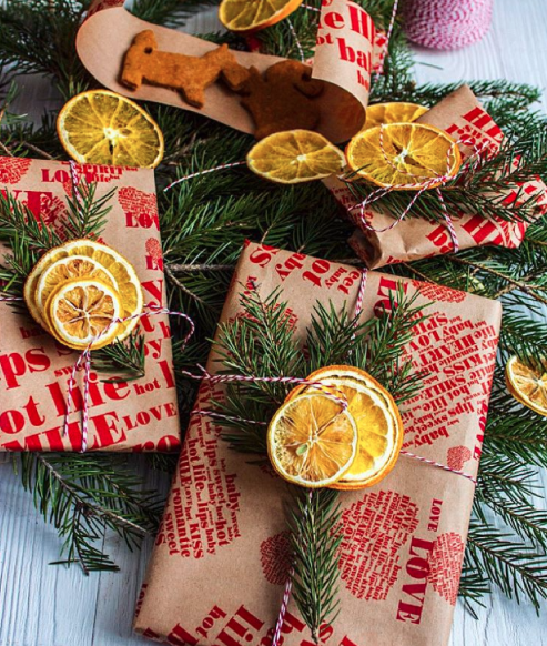Хендмейд пряники, апельсины и упаковка для них от @foodie_july.
