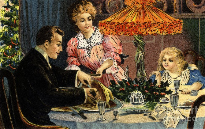 victorian-christmas-family-meal-vintage-poster-r-muirhead-art