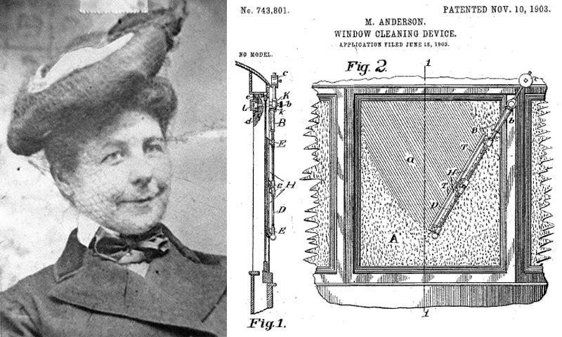 Мэри Андерсон и схема первых в мире дворников