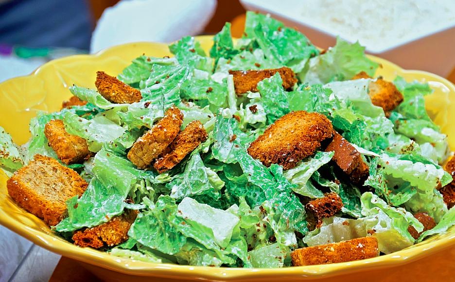 Веганский салат «Цезарь»