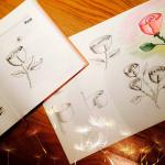 Как нарисовать цветы. Два простых мастер-класса
