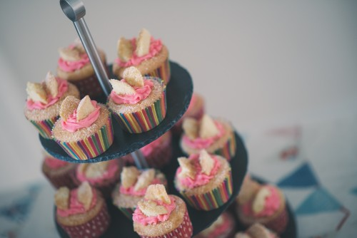 Celebration Cupcakes on Cake Stand