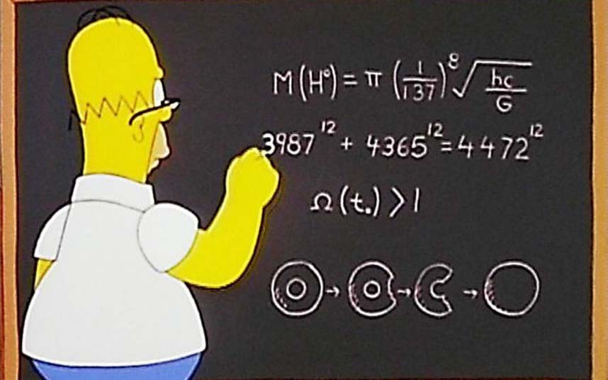 Гомер Симпсон у доски