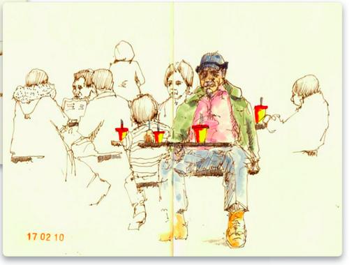 Фред Кроули использовал совсем немного краски сильного, насыщенного цвета — и его набросок ожил. — Иллюстрация из книги «Артбук»