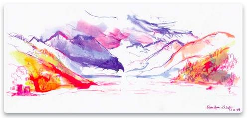 На этой страничке Катриона Эндрюс дала волю цвету. Согласитесь: эффект гораздо сильней, чем если бы цвета соответствовали действительности. — Иллюстрация из книги «Артбук»