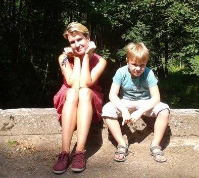 Катерина с сыном Никитой.