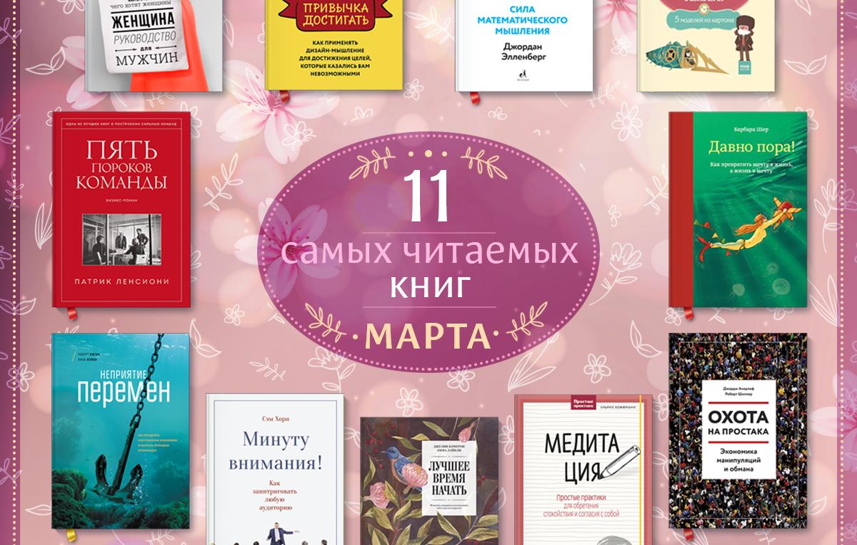 самые читаемые книги марта