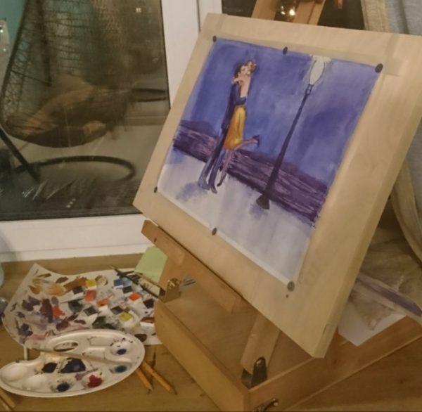 Рисовать градиент акварелью за неделю