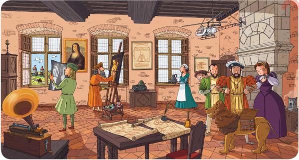 Найди на картинке 8 ошибок. Эпоха Возрождения.