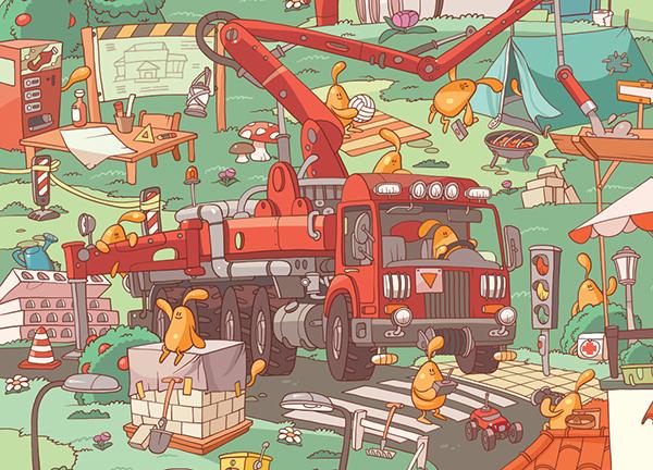 Желейчики на стройке: каждое новое понятие можно найти на картинках со стройки с главными героями — мармеладными человечками