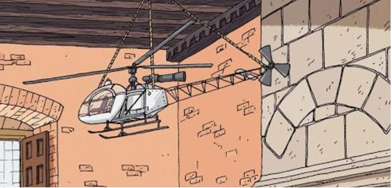 В 1475 году Леонардо да Винчи придумал необычный аппарат с воздушным винтом