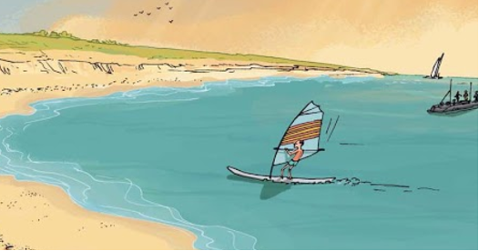 Виндсерфинг — это водный вид спорта, в котором нужно удержать равновесие, поймать ветер и, разогнавшись, воспарить над океаном