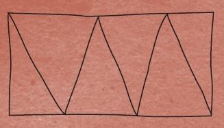 Для круассанов тесто нарезается на вытянутые треугольники. Иллюстрация из книги «Мам, дай фартук!»
