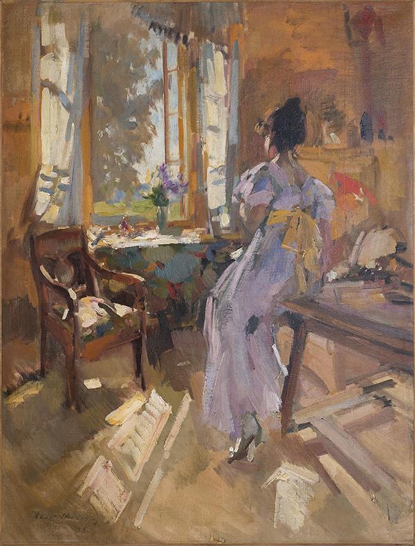 Константин Коровин. Девушка у окна (1910-е годы)
