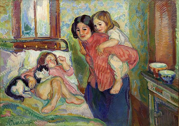 Николай Тархов. Мамина комната утром (1910-е)