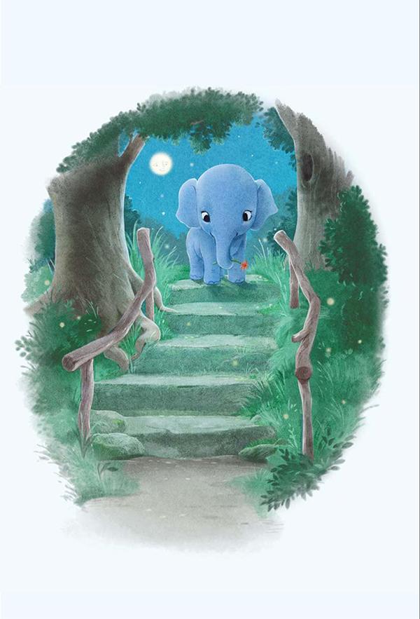 Прогуляйся по лестнице Засыпайке. Это волшебная лестница, по которой дети спускаются и хотят спать все сильнее и сильнее