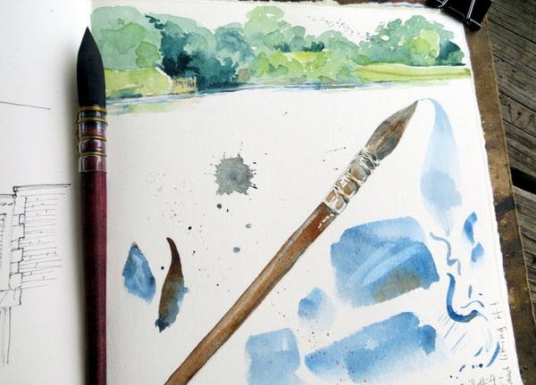 Кэти Джонсон: В большинстве случаев я использую акварель для профессиональных художников