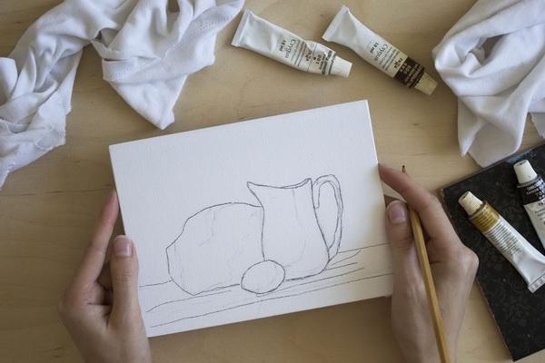 Второй этап: рисунок и перенос