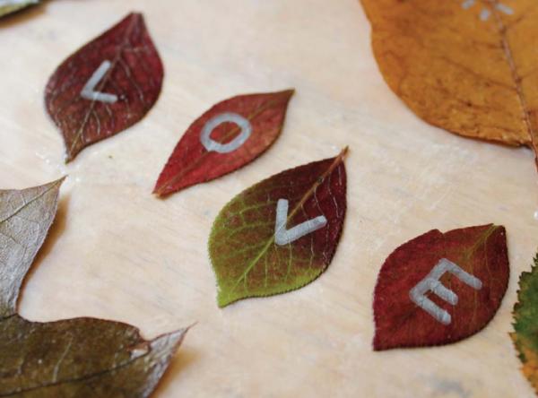 Осенние занятия: рисуем на листьях и делаем мандалы