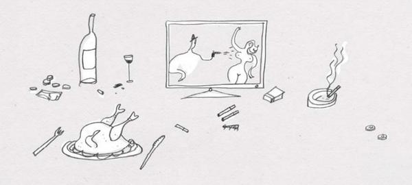 Мы больше проводим времени у телевизора, отдаваясь во власть вредной пищи и вредных привычек.