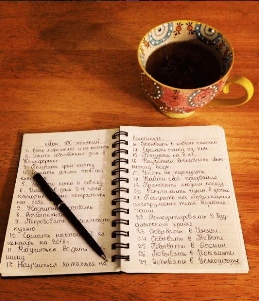 100 желаний участника мифовского Марафона 2.0. Автор фото: Yuliya Morozova