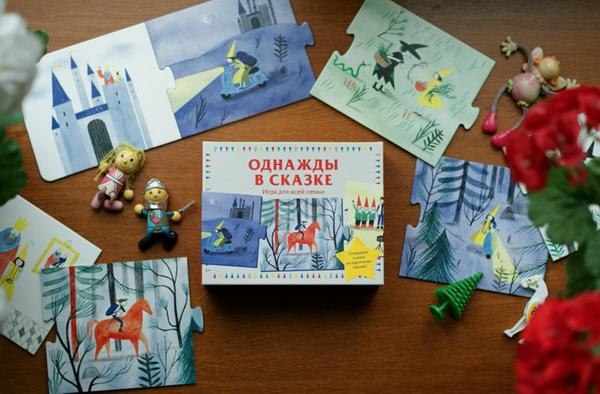 Игра «Однажды в сказке»: карточки собираются в бесконечное количество историй. Это отличный способ развития речи и воображения. Пазлы можно сложить в двухметровую сказку!