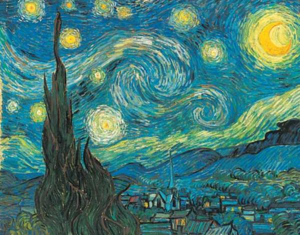 Иллюстрация из книги «Звездная ночь Ван Гога».