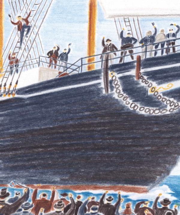 О том, как проходило путешествия в Антарктику и с какими сложностями столкнулась команда Шеклтона читайте в книге «Затерянные во льдах».
