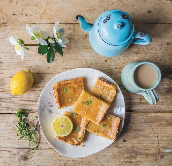 Печенье с лимоном, чабрецом и имбирем