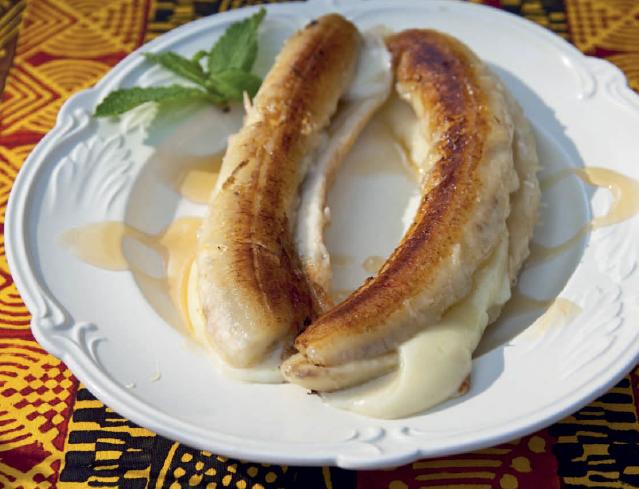 Жареные бананы с сыром