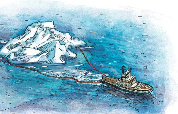 Айсберг — это дрейфующая ледяная глыба, которая отличается от обычной льдины.