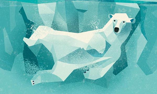 В северном издании: безупречная застывшая природа, холодные синие тона и куда ни глянь — снег.