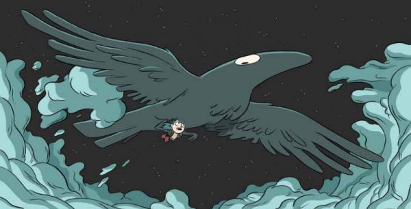 Хильда не находит маму дома и бежит искать ее на птичий парад. Ворон вспоминает что-то важное и улетает. Хильда теряется в толпе, ворон выносит ее из толпы и рассказывает историю праздника.