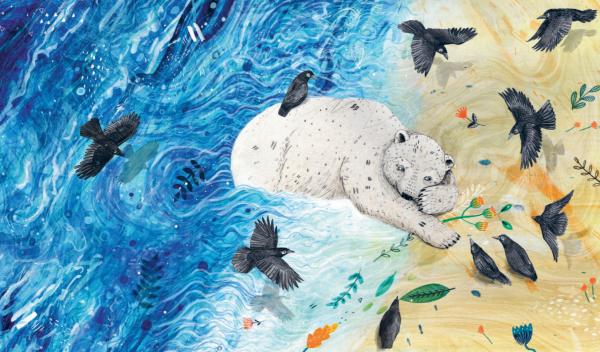 В книге «Чудо», например, рассказывается история белого мишки, который однажды появился в лесу, приплыв откуда-то на маленькой льдине