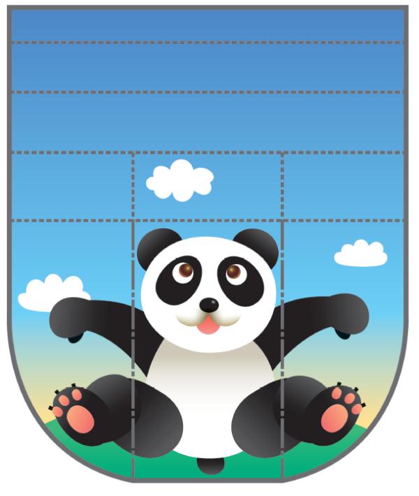 Шаблон для вырезания «Панда»