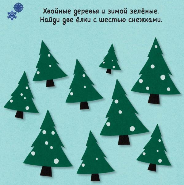 Можно сделать новогоднюю красавицу из цветной бумаги и приклеить снежинки. Просто, но атмосферно: как-будто попал в зимний лес!