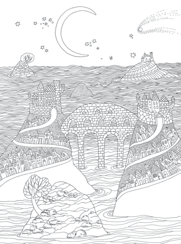 Море из раскраски «Острова»