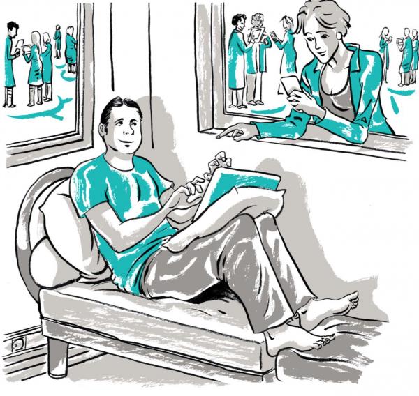 Основатель компании — Йос де Блок — обнаружил простой и действенный способ: он просит совета в своем блоге. Он регулярно ведет блог и часто выкладывает посты в 21.00, находясь дома на диване