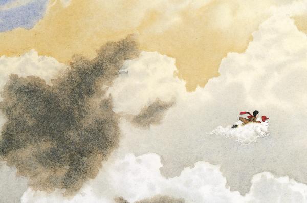 В книге нет слов, только воздушные, фантазийные рисунки Дэвида Виснера