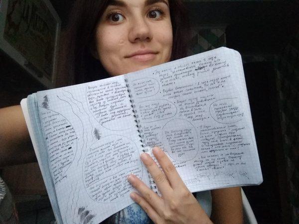Вот так пока выглядит мой дневник