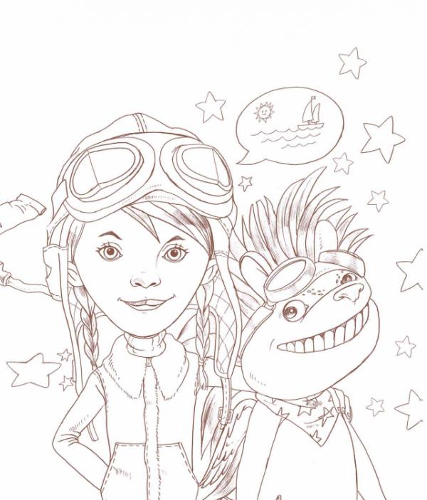 Тами и Сами из раскраски «Бесконечная книга: Тами и Сами»